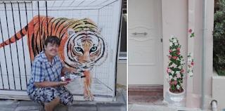 Μια γυναίκα στα Χανιά πήρε τα πινέλα της και μεταμόρφωσε τον δρόμο που μένει σε αληθινό παράδεισο
