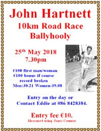 10k race near Fermoy... Fri 25th May 2018