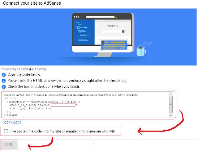 Cara Memasang Kode Iklan Adsense