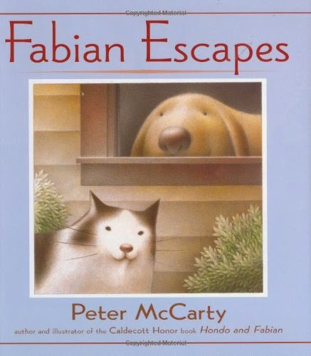 Fabian Escapes by Peter McCarty, part of children's book review list about cats