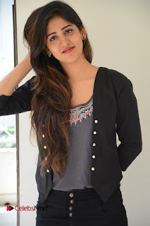 Actress Chandini Chowdary Pictures in Black Jeans at Interview  0060.JPG