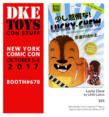 New York Comic Con 2017 Exclusive Star Wars Lucky Chew Clay Figure by Little Lazies x DKE Toys
