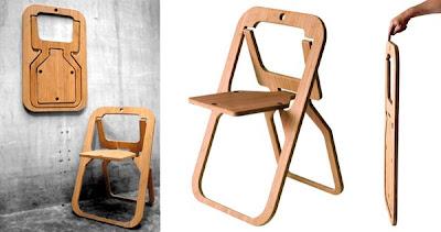 Rekaan Moden Kerusi & Meja yang Kreatif - kerusi lipat
