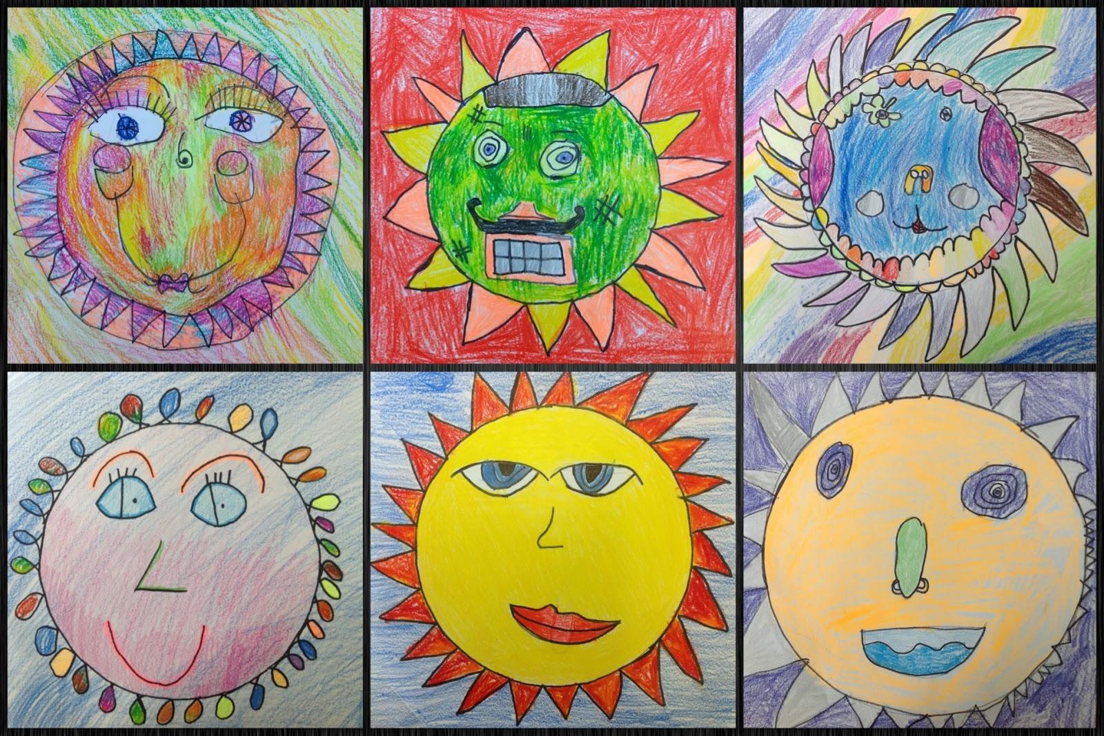 Bes Art Sun Faces