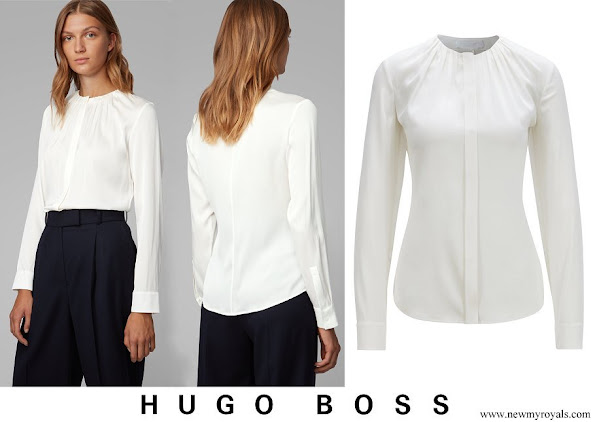 Princess Marie wore Hugo Boss Banora8 silk blouse