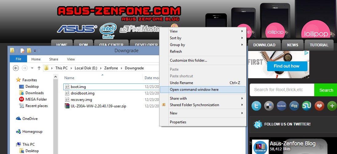 How to Downgrade ASUS ZenFone 2 Firmware ~ Asus Zenfone Blog