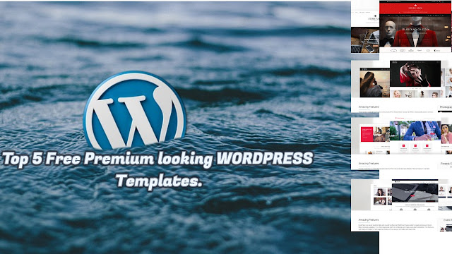 Top 5 Free Premium looking WORDPRESS Templates.