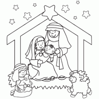 Nacimiento De Jesus Infantil Para Colorear Dibujos Infantiles
