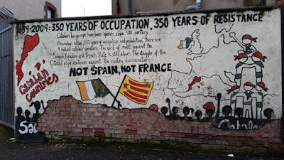 Pintura en apoyo independencia catalana