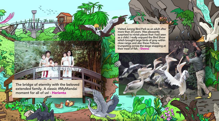 A sample of the digital mural, which will be installed at the Singapore Zoo.