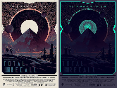 Total Recall Glow in the Dark Variant Movie Poster Screen Print by Matt Ferguson x Grey Matter Art