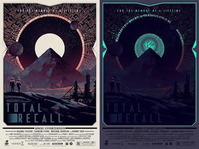Total Recall Glow in the Dark Variant Movie Poster Screen Print by Matt Ferguson x Grey Matter Art
