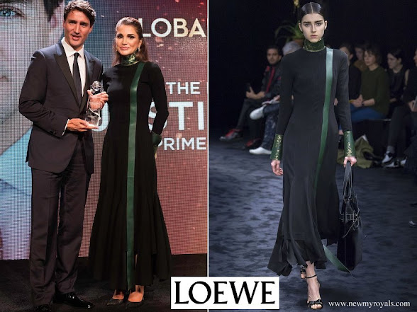 Queen Rania wore Loewe Gown Fall 2017 Ready-to-Wear Collection