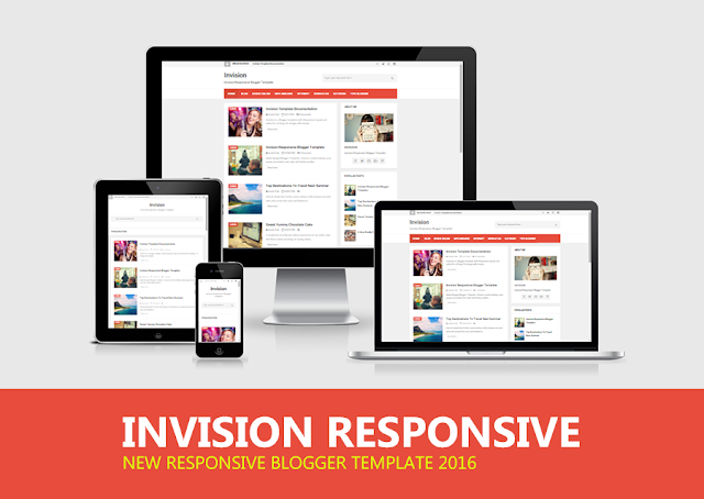 Download Invision Responsive Blogger Template by Anas Blogging Tips