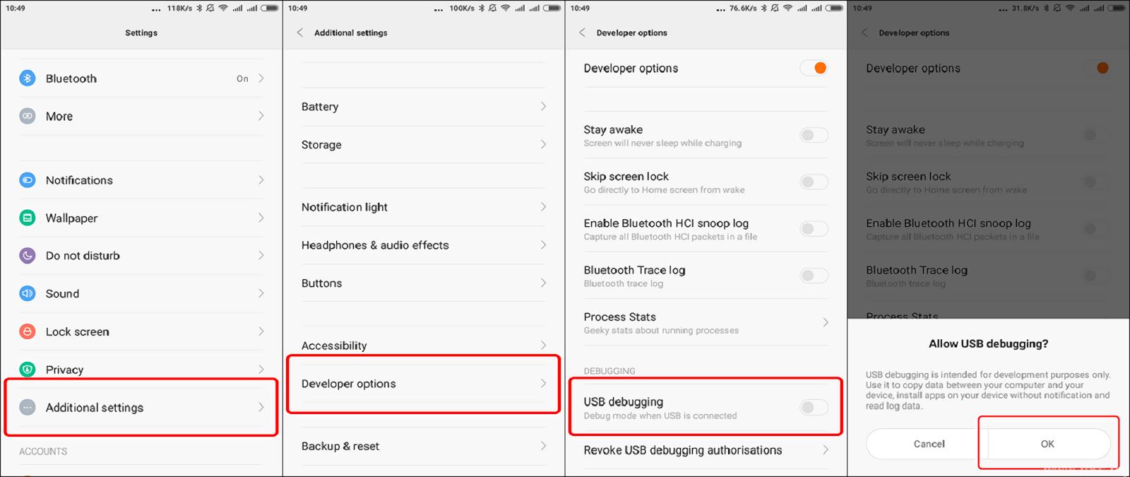 USB Debugging Xiaomi Mi 4i