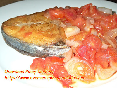 Fish Steak Sarciado, Sarciadong Isda.