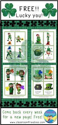 LUCKY YOU! St. Patrick's Day Freebies from Looks-Like-Language