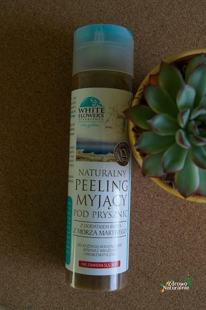 White Flower's - Naturalny peeling myjący pod prysznic z dodatkiem błota z Morza Martwego