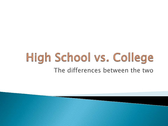 compare and contrast between high school and university
