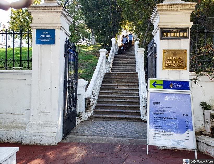 Entrada do Museu Nacional Marítimo - O que fazer em Valparaíso em algumas horas