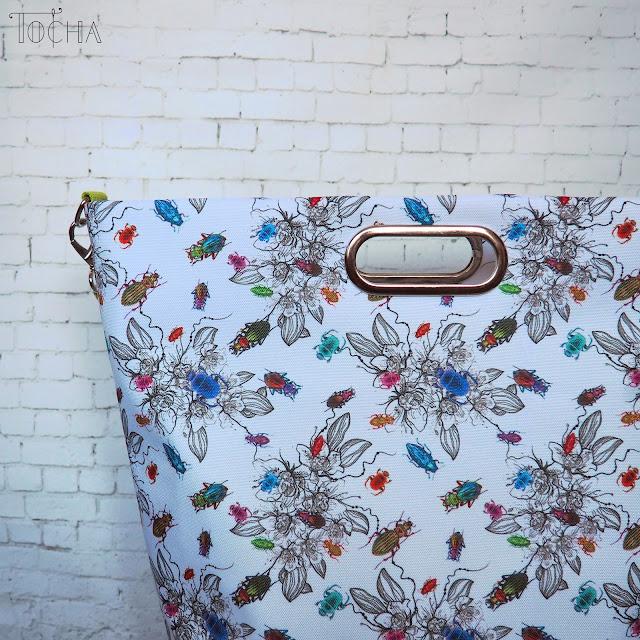 spring, bug, beetle, bucket bag, handbag, Washpapa, #innywymiarszycia, waterproof, pompoms, Minerva Crafts, kraft paper, washable paper, vegan leather,
