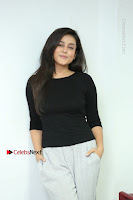 Telugu Actress Mishti Chakraborty Latest Pos in Black Top at Smile Pictures Production No 1 Movie Opening  0235.JPG