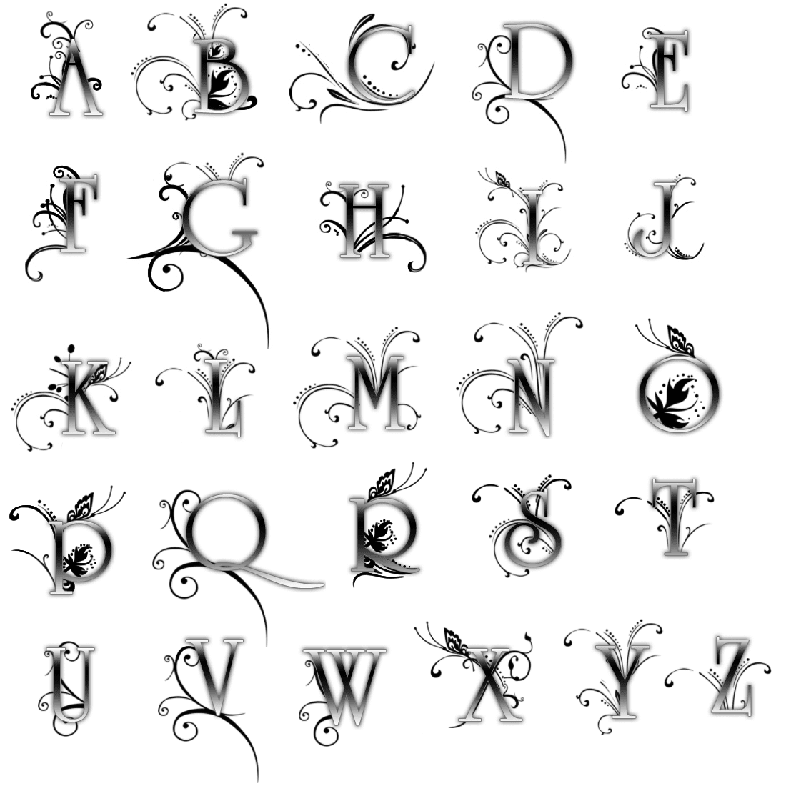 neat tattoo writing alphabet