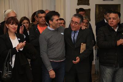 Lopez y Julio Zapata sobreviviente del Crucero General Belgrano