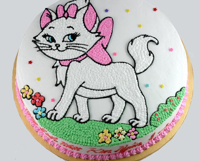 Ảnh bánh sinh nhật hình con mèo đáng yêu nhất