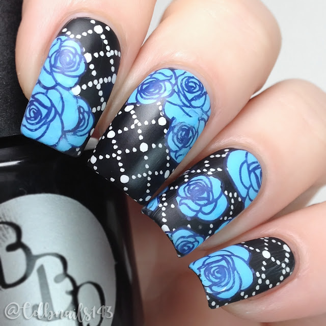 cdbnails143-blue floral
