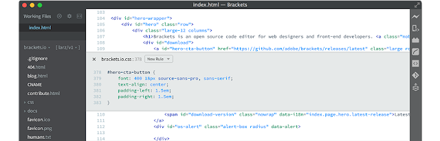 bracket apps like sublime text editor