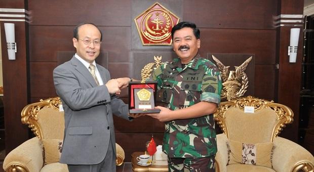 Panglima TNI Menerima Kunjungan Kehormatan Dubes RRT