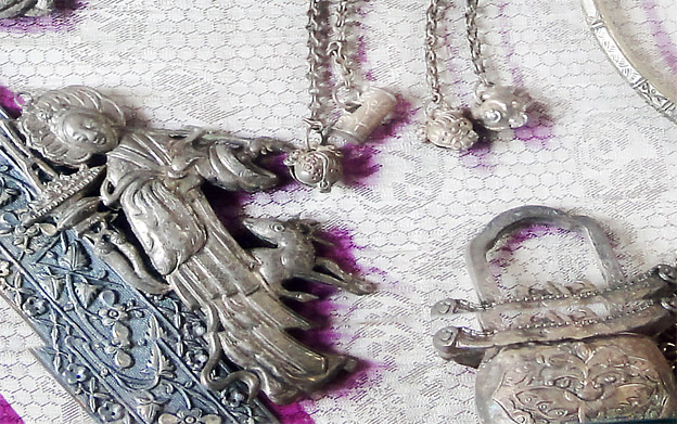 Peranakan Nyonya Silver Body Decoration