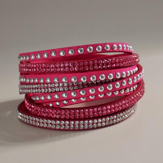 Bright pink wrap bracelet