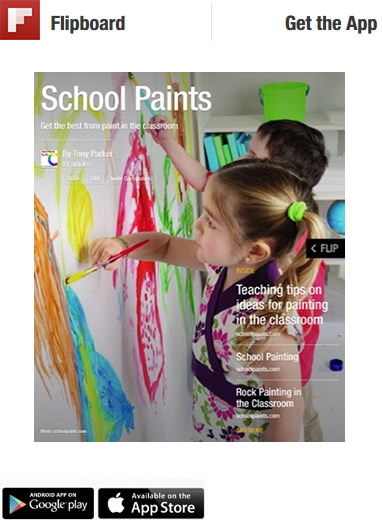 School paints and classroom painting on flipboard
