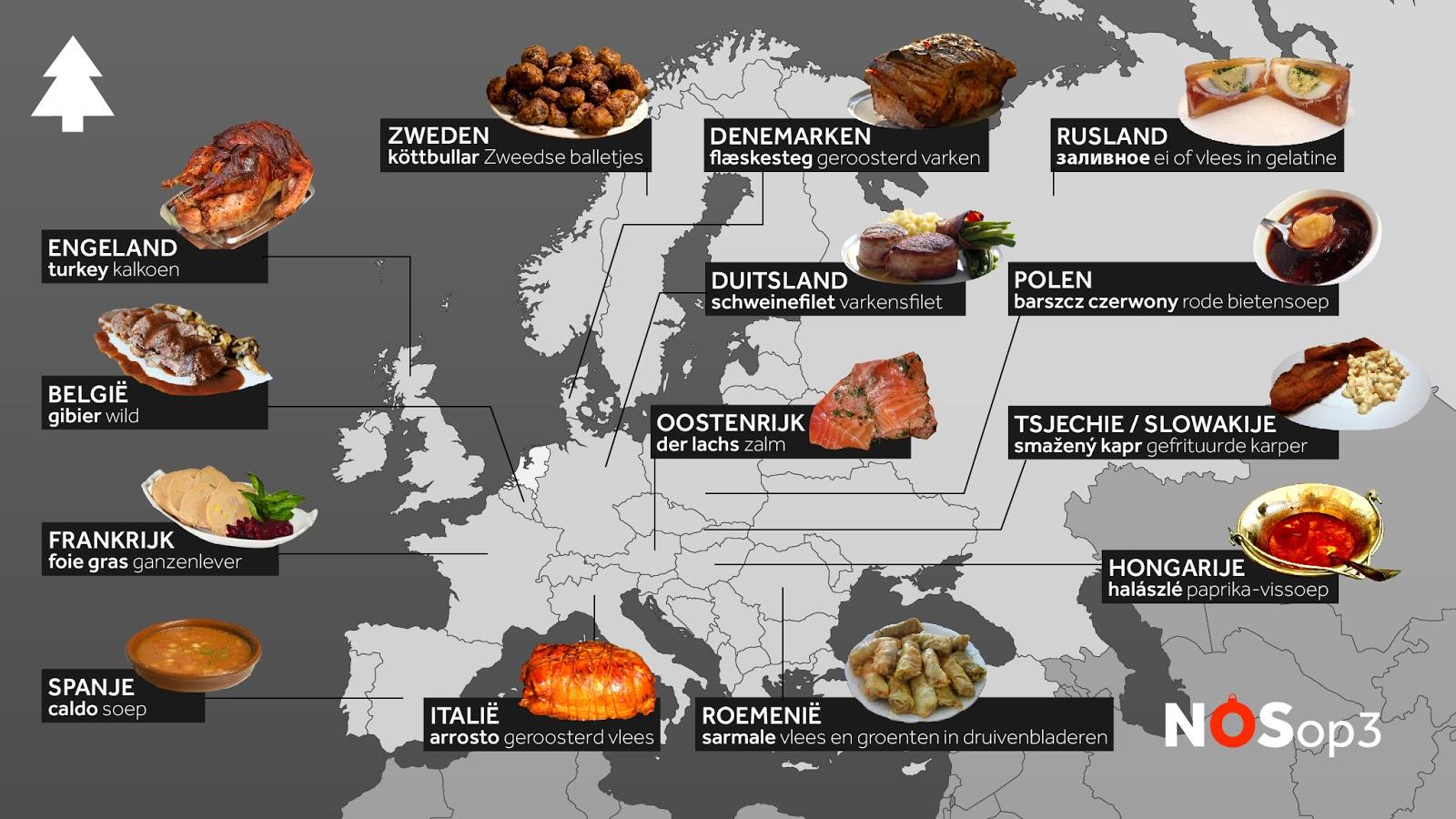 What Europeans eat for christmas dinner