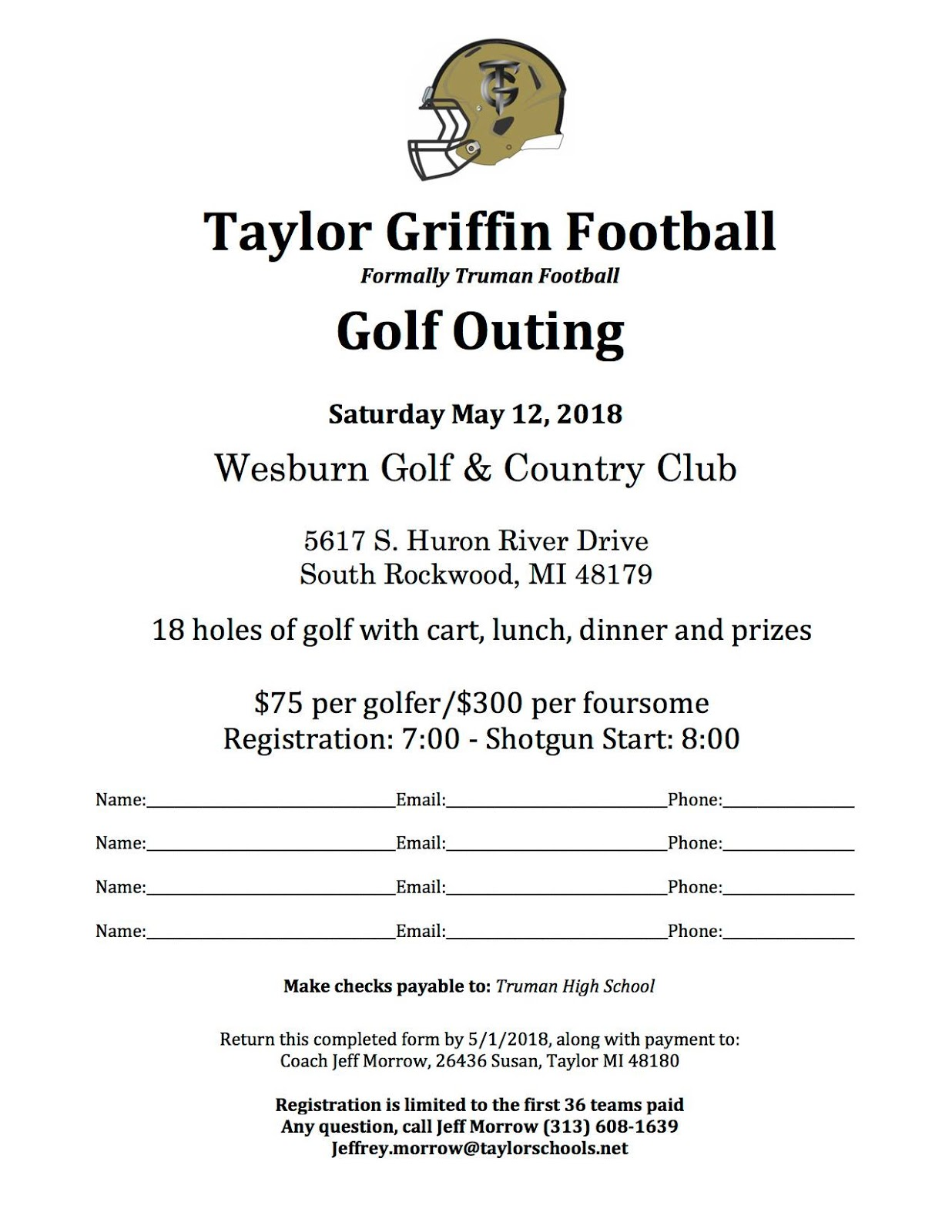 Talking Taylor Schools: NEW TAYLOR HIGH SCHOOL Griffins Golf