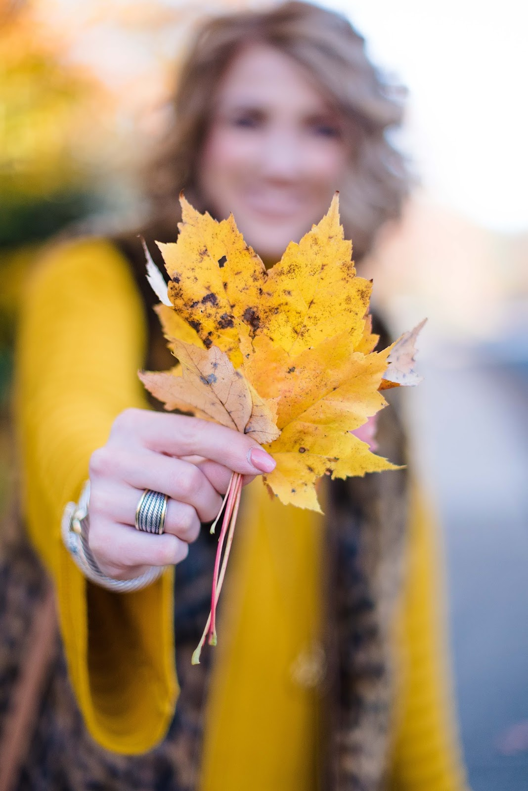 Yellow Fall Leaves - Something Delightful Blog