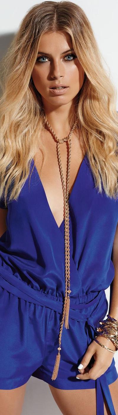 Shan Blue Silk Romper