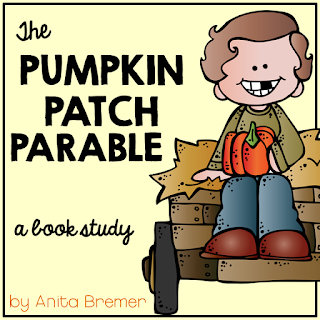 The Pumpkin Patch Parable book study companion activities for Kindergarten and First Grade