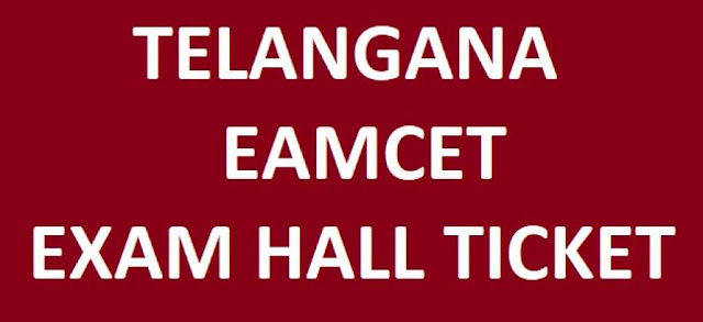 Telangana EAMCET Entrance Test Hall Tickets