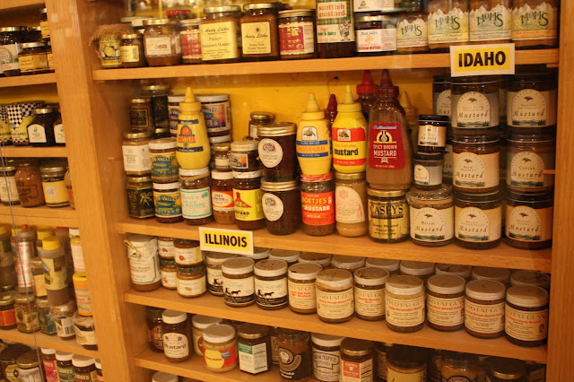 Collection of Illinois mustards at the National Mustard Museum