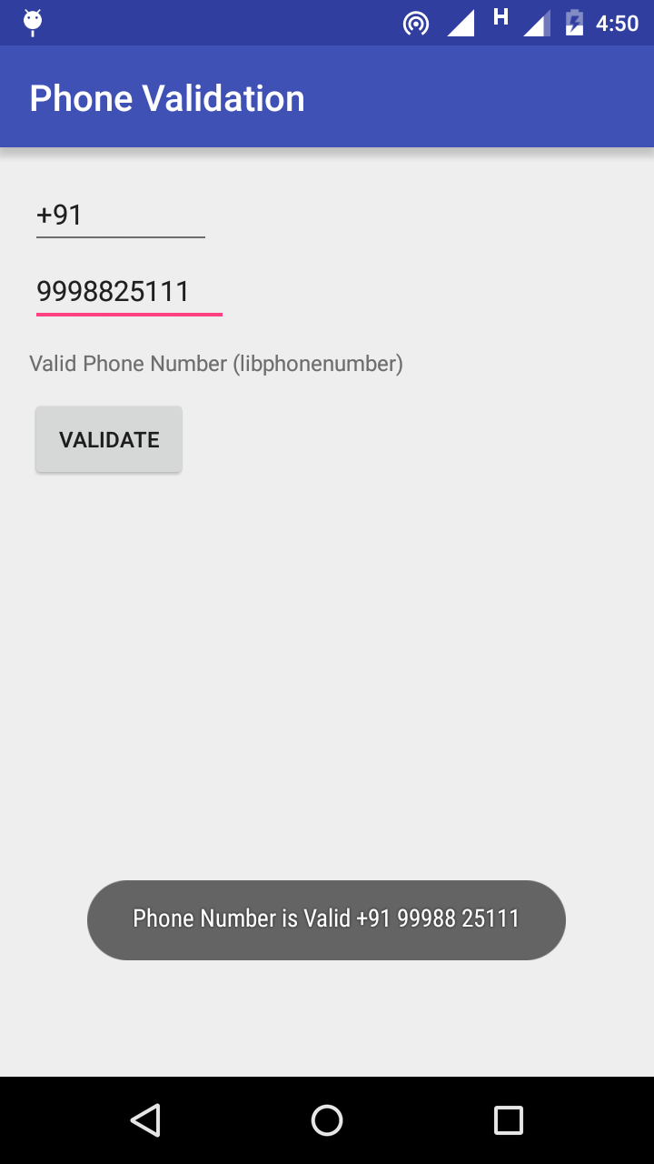 International Phone Validator