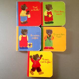 Petit Ours Brun - Détail des cinq petits livres du coffret de Noël