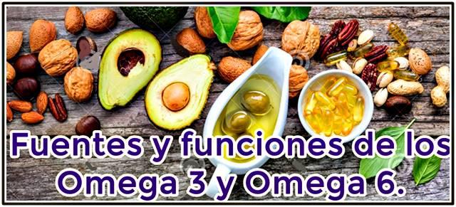 Fuentes alimentarias y funciones de los omegas 3 y 6