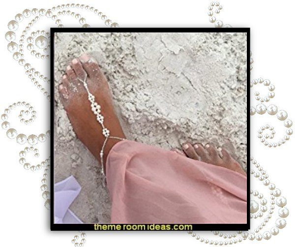 Feet jewelry for the beach  toe nails fancy feet decals - nail art designs - decorate your toes - toenail designs - toenail decorations - fake nails for your toes - Foot Jewelry - Barefoot Sandals - ankle decorations - feet bling - feet jewelry for the beach
