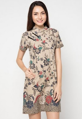 Dress batik pekalongan minimalis modern