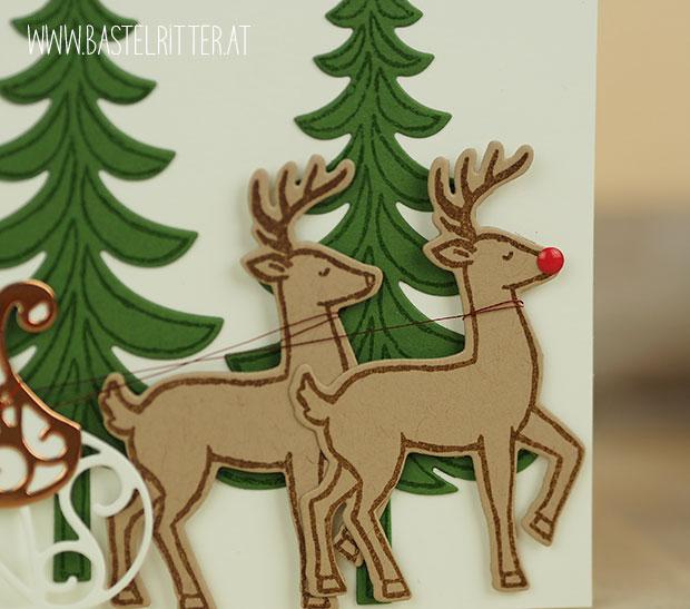 weihnachtsschlitten stampin up bastelritter