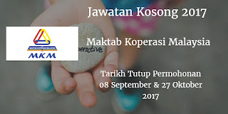 Jawatan Kosong MKM 08 September & 27 Oktober 2017