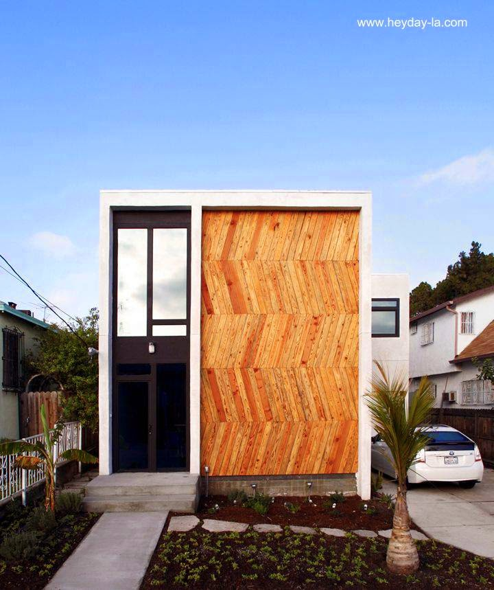 Casa contemporánea fachada en madera Los Angeles, California